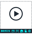 Play button icon flat vector image vector image