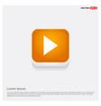 play icon orange abstract web button vector image vector image