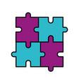 puzzle piece business progress success concept vector image