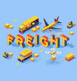 railroad freight transport vector image