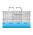 realistic swimming pool icon vector image vector image
