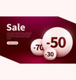 sale web banner spheres with discount percentage vector image