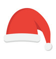 santa hat flat icon new year and christmas xmas vector image vector image