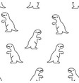 seamless pattern from tyrannosaurus vector image