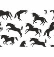 seamless pattern with unicorns silhouettes vector image vector image