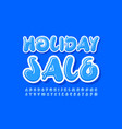 seasonal promo holiday sale creative alphabet set vector image vector image