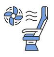 seat conditioner color icon vector image vector image