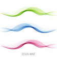 set abstract wave pattern blue wave green vector image vector image