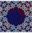 Stylized islamic ornamental frame over deep blue vector image