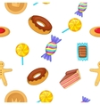 Sweets pattern cartoon style vector image