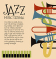 template for jazz concert poster or flyer vector image vector image