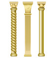 three gold eastern tower vector image vector image