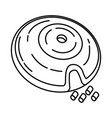 treat maze dog toy icon doodle hand drawn vector image