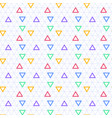 triangle seamless background with triangle shapes vector image