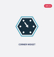 two color corner widget icon from user interface vector image