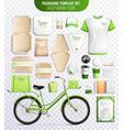 vegetarian food packaging template set vector image vector image