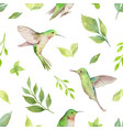 watercolor seamless pattern with vector image vector image