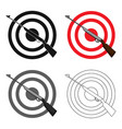 weapon and target shooting gallery in an vector image vector image