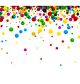 white background with colorful drops vector image