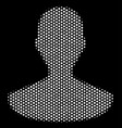 white dot person icon vector image vector image