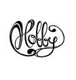 word hobby vector image