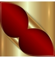 abstract red and golden metallic background vector image