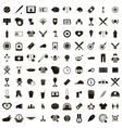 100 Baseball icons set vector image vector image