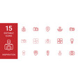 15 inspiration icons vector image vector image