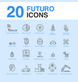 20 artificial intelligence icon pack vector image