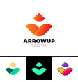 abstract arrow icon design can be used as logo vector image vector image