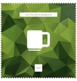 Abstract green tea polygonal background vector image