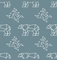 abstract polygonal polar bear seamless pattern vector image