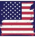 American vintage flag vector image vector image