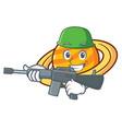 army planet saturnus character cartoon vector image vector image