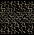 art deco pattern with swirls black and gold vector image vector image