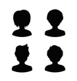 Avatar profile silhouettes of young people man