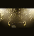 award nomination ceremony luxury background with vector image vector image