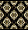 baroque seamless pattern ornamental damask vector image vector image