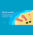beach vacation banner vector image vector image