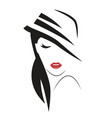 beautiful stylish woman in hat vector image vector image