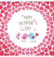 birds in love on hearts background vector image