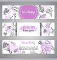 birthday party doodle banner template vector image vector image