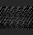 black metallic glossy stripes abstract background vector image