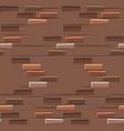 brown brick wall texture seamless flat seamless vector image vector image