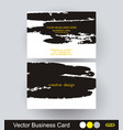 business cards abstract sketch design vector image