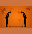 businessmen practicing physical or social vector image