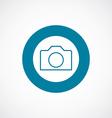 camera icon bold blue circle border vector image