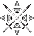celtic swords vector image