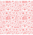 christmas new year seamless pattern line vector image vector image