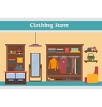 Clothing store Man and woman clothes shop vector image